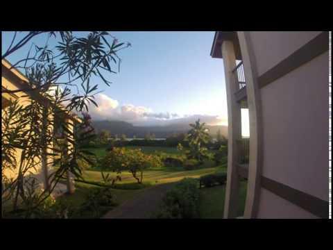 Hanalei Bay Sun Set from Bldg 8 Unit 82XX