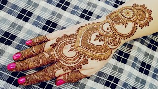 Quick And Simple Front Side Henna Design For Eid 2017 The Most