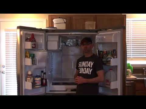Clearing Defrost Drain Tube On A GE Profile Refrigerator
