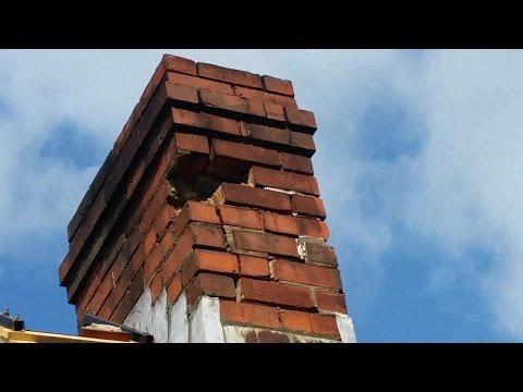 Brick repair on chimney DIY