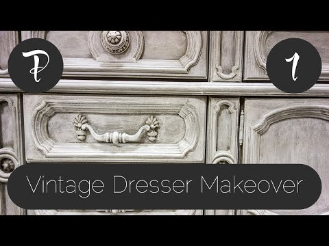 Vintage Dresser Makeover - Part 1