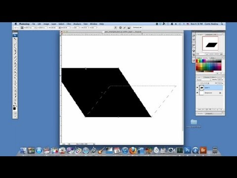 How to Make a Parallelogram in Photoshop : Using Adobe Photoshop