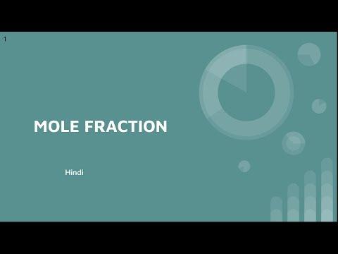 Mole Fraction | HIndi
