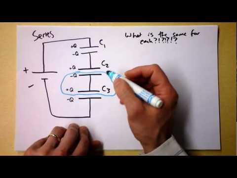 Equivalent Capacitance for Capacitors in Series and Parallel Circuits Reduction | Doc Physics