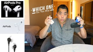 Apple AirPods Pro vs AirPods vs Bose QC20 - Which are the best for Travelling?