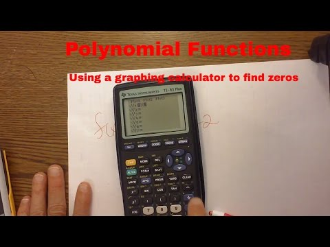 Pre-calculus-Polynomials- Using a graphing calculator to find zeros