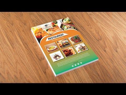 Illustrator tutorial - Restaurant flyer design