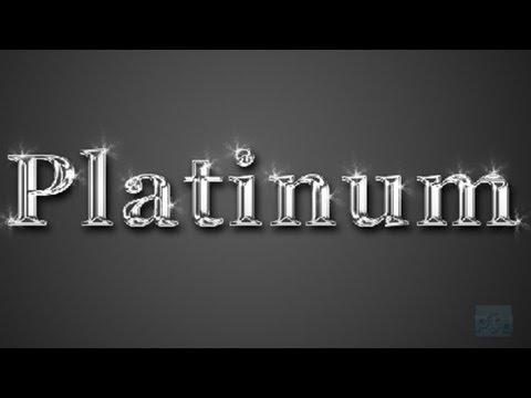 Adobe Photoshop CS6 Platinum Text Tutorial : Simple and Easy way