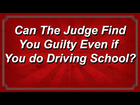 Can The Judge Find You Guilty of Reckless Driving Even if You do Driving School?