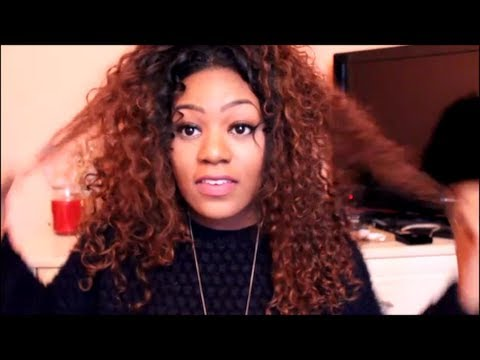 How I Revive Dry Curly Hair/ Weave Tutorial | Miss Nicki x