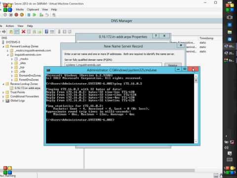 Configure Secondary DNS (Domain Name System) in Windows Server 2012.