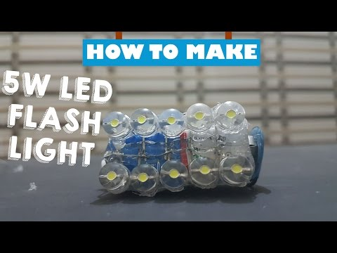 How To Make Powerful 10 led Flash Light Using Of 9V battery- kasnox