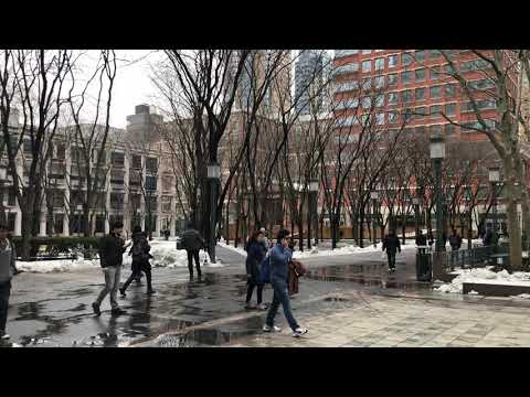 post thundersnow, Brooklyn MetroTech, New York (3-8-18)