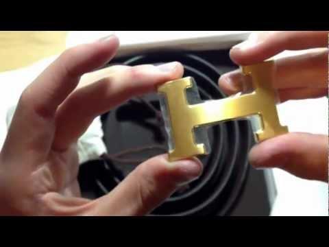 Genuine Hermes H Buckle Belt Kit - Unboxing (Gold on Blk/Choc)