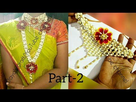 Part - 2 Bahubali style Flower Jewellery Tutorial