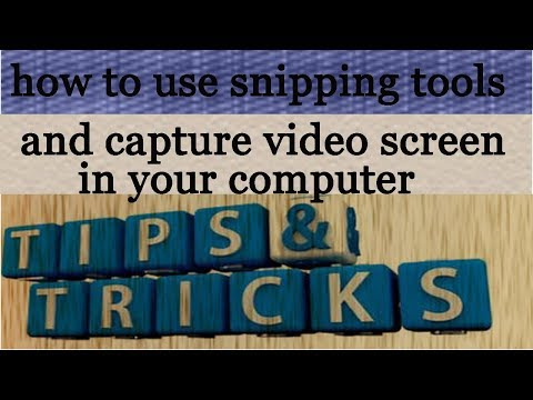 02 top secret/How to capture video screen and use snipping tools in your coputer urdu/hindi