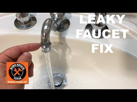 How to Fix a Leaky Faucet (Spout Leak!) in a Bathroom -- by Home Repair Tutor
