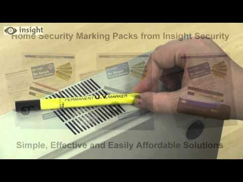 Security marking your valuables with a UV Pen
