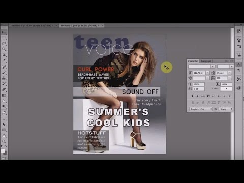 Photoshop CC Tutorial : Design a Magazine Cover in Adobe Photoshop