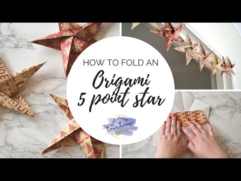 How to fold an origami 5 point star