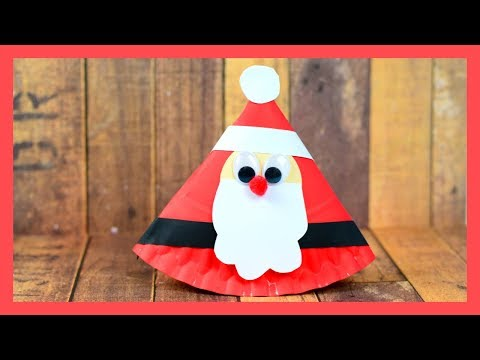 Rocking Santa Paper Plate Craft - cute Christmas crafts for kids