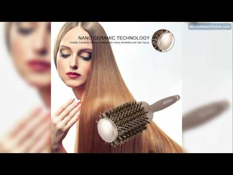 BANGMENG Round Barrel Anti Static Hair Brush