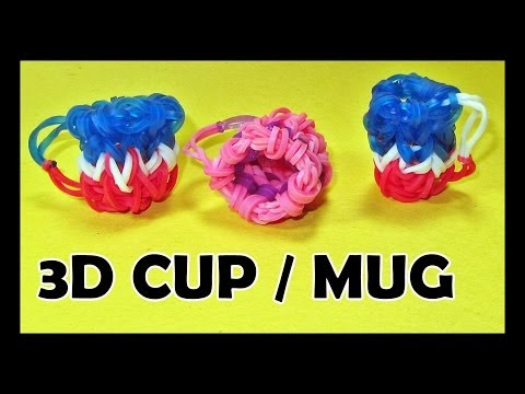 Rainbow Loom Charms: 3D CUP / MUG (DIY Mommy) How To Make