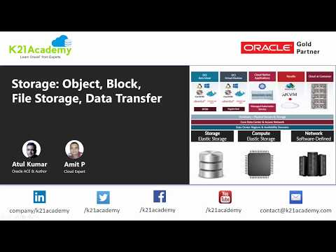 Oracle Cloud Infrastructure (OCI) | Storage Object, Block |  File Storage, Data Transfer Service