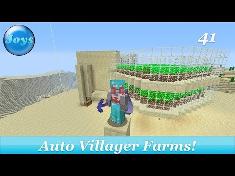 Fully Auto Villager Carrot/Potato Farms!! - Lets Play Minecraft Amplified Console Edition 41
