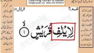 Quran in urdu Surah 106 Quraish  001  Learn Quran translation in Urdu Easy Quran Learning 4