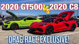 1ST C8 CORVETTE VS 2020 GT500 DRAG RACE!*EXCLUSIVE*