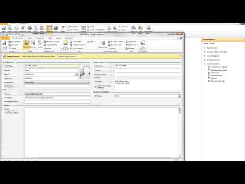 Tutorial   Business Contact Manager BCM Reports