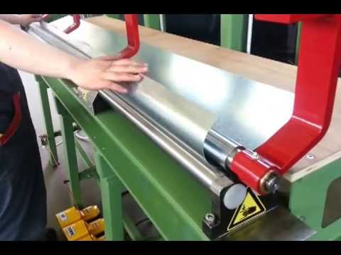 Production of downspout ( rolling and seaming ) 2 meters sheet metal bending machine
