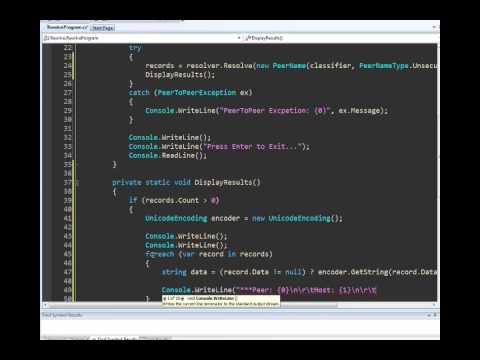 Peer to Peer with .NET Series: Part 3 - Resolving Peer Name Synchronously with C#
