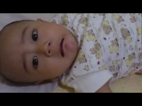 Baby five months learn to speak bababababa.......