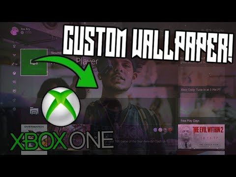 HOW TO CHANGE YOUR XBOX ONE DASHBOARD BACKGROUND!