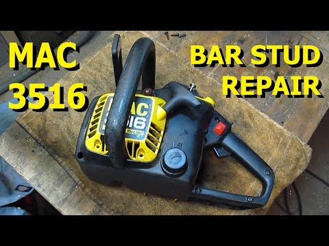 McCulloch Chainsaw - Make & Install Stripped Chain Bar Studs - Full Teardown