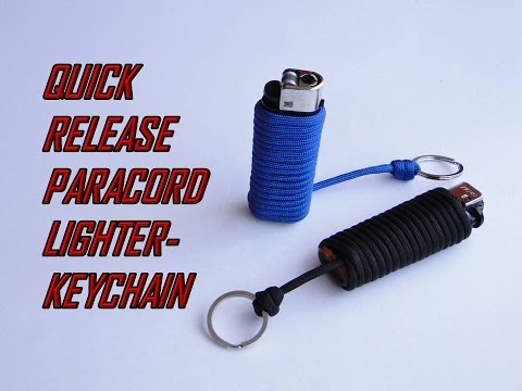 How to Make a Paracord Lighter Keychain-Quick Release-DIY
