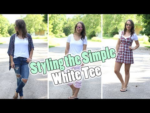 How to Style White T-Shirts | Tips on Keeping White Shirts WHITE!