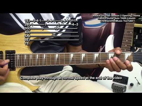 How To Play Attack On Titan Season 2 On Electric Guitar TABS LessonEEMusicLIVE
