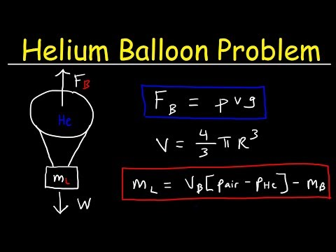 How To Calculate The Buoyant Force & Load Mass of a Helium Balloon - Physics