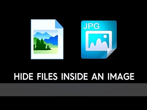 How To Hide Files Inside A  .jpg Image?