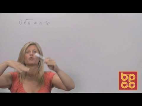 Math 102 Module 5.2 - Solving Radical Equations