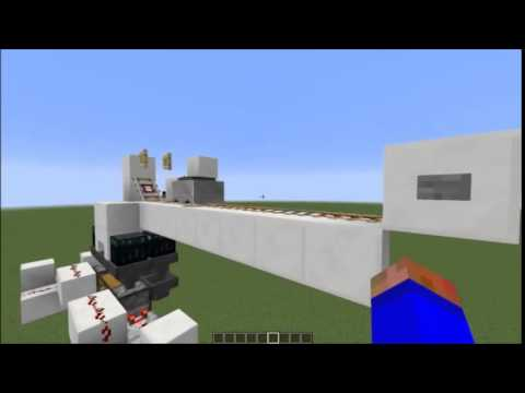 Minecraft super fast minecart unloaders (up to 40 items/sec)