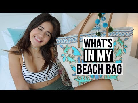 WHAT'S IN MY BEACH BAG   What To Pack For The Pool 2017!