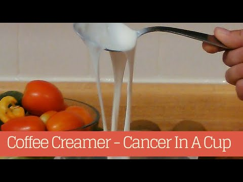 Coffee Creamer - Cancer In A Cup | The Master Vegan