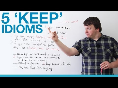 Learn English - 5 'KEEP' Idioms