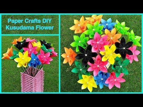 How to make a Kusudama Paper Flower | Easy & Simple Origami Kusudama | DIY Paper Crafts