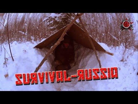 Emergency Winter Shelter Made Of Pull-Sled Equipment