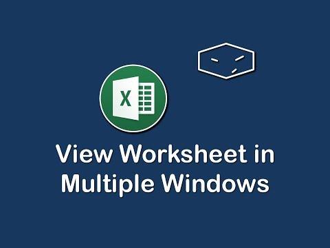 ms office excel view worksheet in multiple windows
